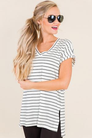 The Best Striped V Neck