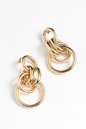 Intertwined Earring, Gold
