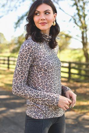 Shiloh Turtleneck, Leopard
