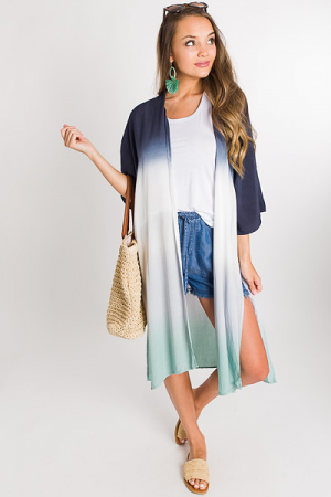 Dip Dyed Duster, Navy