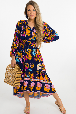 Bohemian Dream Midi, Navy