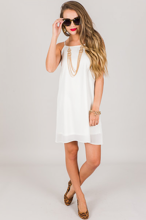 Mattie Slip Dress, Off White