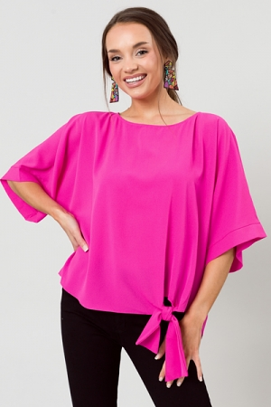 Side to Side Top, Magenta