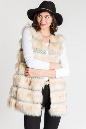 Marshmallow World Fur Vest