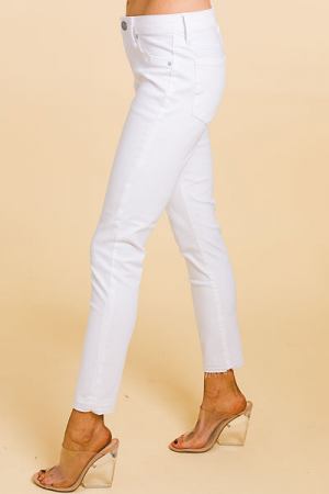 Carly Skinny, Solid White