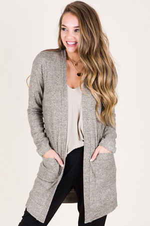 So Soft Duster Cardi, Taupe