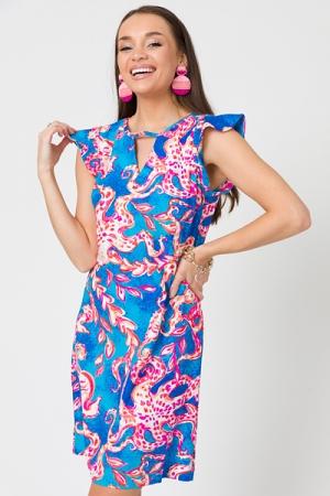 Liquid Heaven Cutout Dress, Ocean
