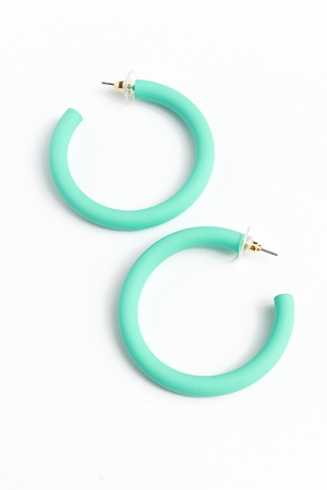 Color Coated Hoops, Turquoise