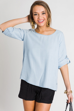 Softest Chambray Top