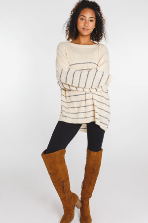 Charcoal Stripes Sweater