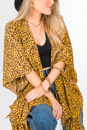 Golden Leopard Topper