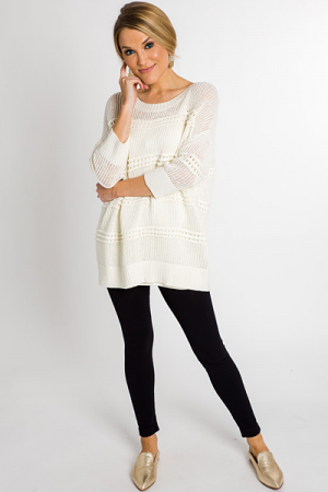 Sweet Knit Sweater, Off White