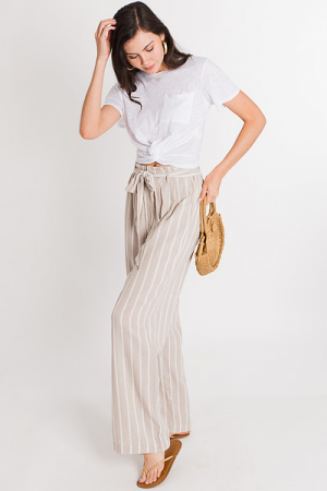 Oatmeal Striped Pants