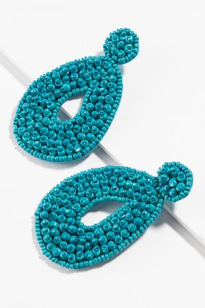 Bubble Bead Earring, Turquoise