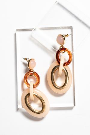 Nude Acrylic Links Earring