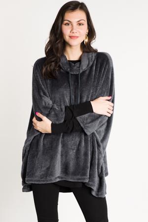 Blanket Poncho Charcoal