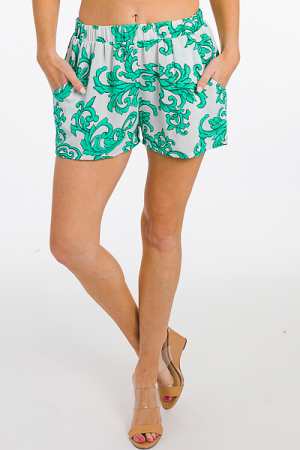 Summer Vines Shorts, Green