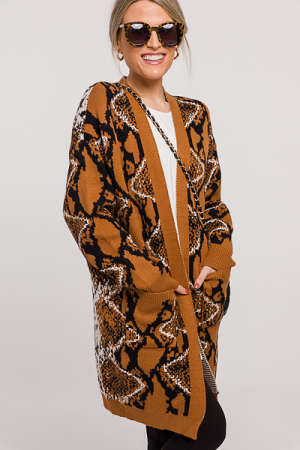 Abstract Chic Animal Cardi