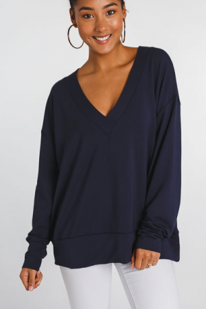 Best Knit Tunic, Navy