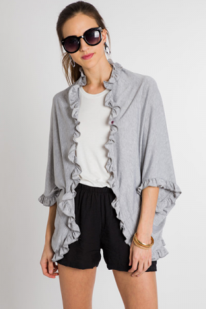 Touch of Ruffle Poncho