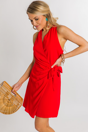 Red Rover Wrap Dress