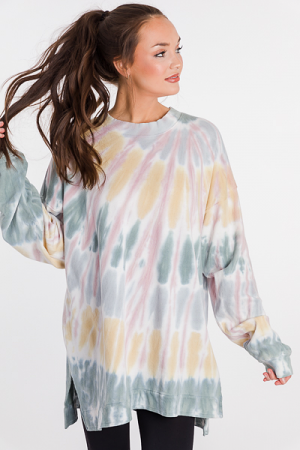 Oversize Sweatshirt, Sage Gray