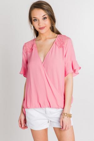Peachy Lace Blouse