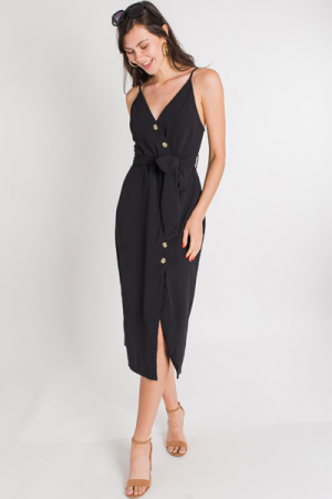 Bella Button Midi, Black