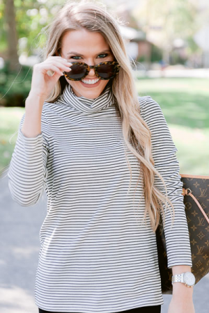 Dixie Turtleneck, Striped