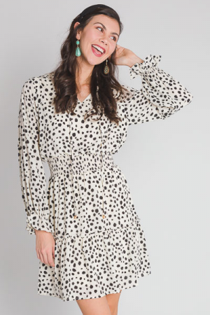 Dalmation Smocked Waist Dress