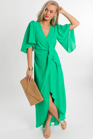 Solid Wrap Maxi, Emerald
