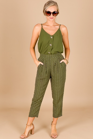 Olive Dot Trousers