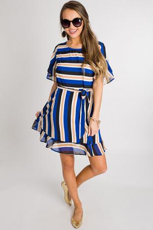 Royal Stripe Dress