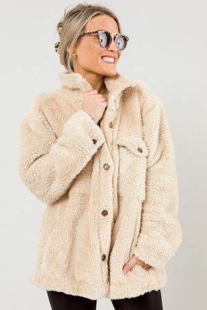Golden Fuzzy Jacket, Natural