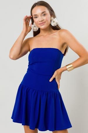 Stretchy Tube Mini Dress, Royal