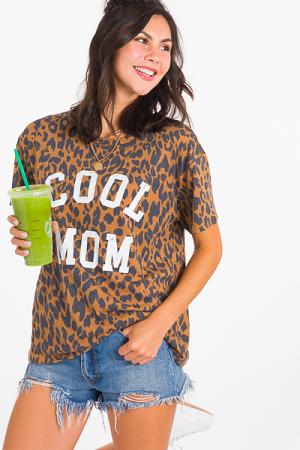 Cool Mom Leopard Tee