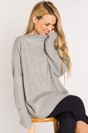 The Perfect Pullover, Heather Grey