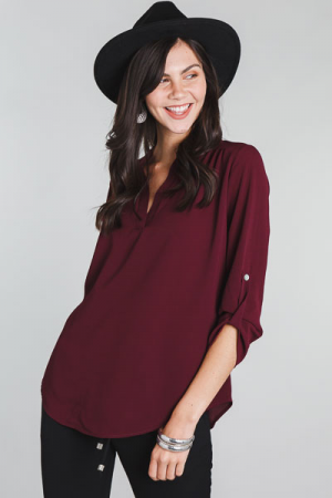 Paloma Blouse, Wine