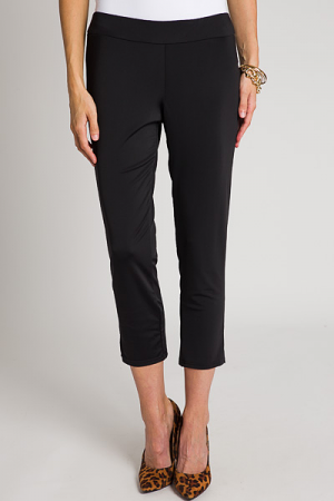 Slim Cropped Pants, Black