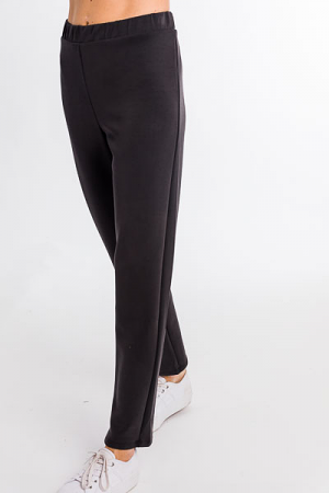 Soft Knit Trousers, Black