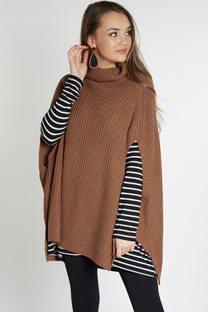 Hide & Seek Poncho, Mocha