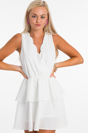 Fav Romper Dress, White