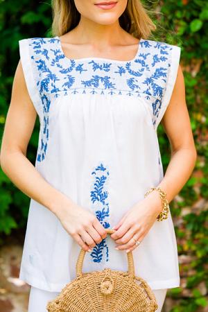 Lauren Embroidered Top