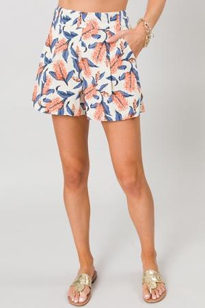 Linen Blossom Shorts