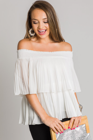 Jasmine Off Shoulder Top, Ivory