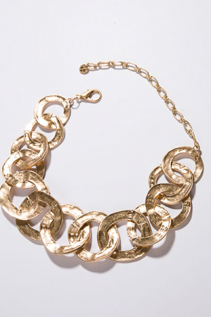 Stellar Links Necklace, Gold