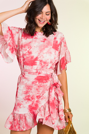 Wrap Around Dress, Tie Dye