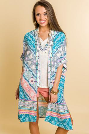Candy Land Print Kimono