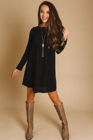 Berkley Black Knit Dress