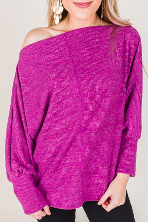 Sling Neck Sweater, Pink